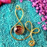 Gold peackock necklace - B - Handmade - Maikai Jewelry_
