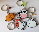 Cow keychain - double sided _