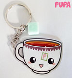 Tea with sugar keychain - double sided _