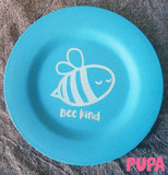 Bamboo snack plate - Bee kind - 17.5 cm_