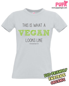 This is what a vegan looks like - Women's t-shirt PACIFIC GREY - T-shirt - Organic bamboo