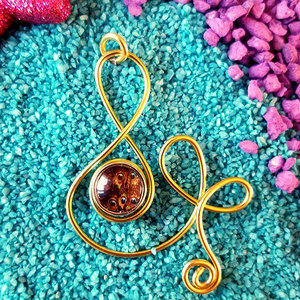Gold peackock necklace - B - Handmade - Maikai Jewelry