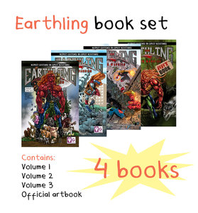 Earthling Vegan Warrior: 4 book set - Graphic novel