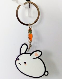 Pupu keychain - double sided