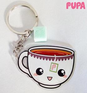 Tea with sugar keychain - double sided